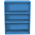 more details on Phoenix 3 Shelf Wide Bookcase - Blue.