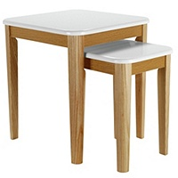 Hygena Skye Nest of 2 Tables (White)
