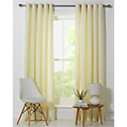 more details on ColourMatch Lima Eyelet Curtains - 117x183cm - Cotton Cream.