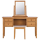 more details on Schreiber Pentridge Dressing Table Stool and Mirror - Oak.