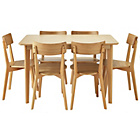 more details on Hygena Retro Dining Table and 6 Chairs.