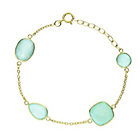 more details on 18ct Gold Plated Sterling Silver Aqua Onyx Stone Bracelet.