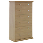 more details on Canterbury 5+2 Drawer Chest - Oak effect