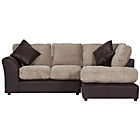more details on HOME Bailey Reg Fabric Right Hand Corner Sofa - Natural.