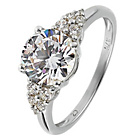 more details on 9ct White Gold Cubic Zirconia Solitaire Ring.