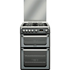 more details on Hotpoint HUG61G Graphite Double Gas Cooker - Del/Recycle.