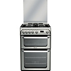 more details on Hotpoint HUG61X S/Steel Double Gas Cooker - Del/Recycle.