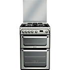 more details on Hotpoint HUG61X Double Gas Cooker - Ins/Recycle.