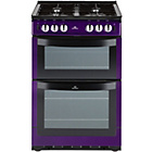 more details on New World 551GTCP Single Gas Cooker - Purple.