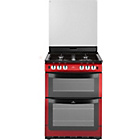 more details on New World 601GTCLR Single Gas Cooker - Red.