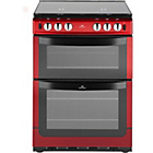 more details on New World 601GDOLR Double Gas Cooker - Red.
