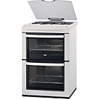 more details on Zanussi ZCG667GW Double Gas Cooker - White.