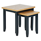 more details on Hygena Luna Nest of 2 Tables - Black.