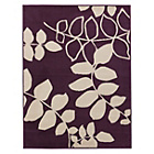 more details on Amble Leaf Rug 120x160cm - Plum.