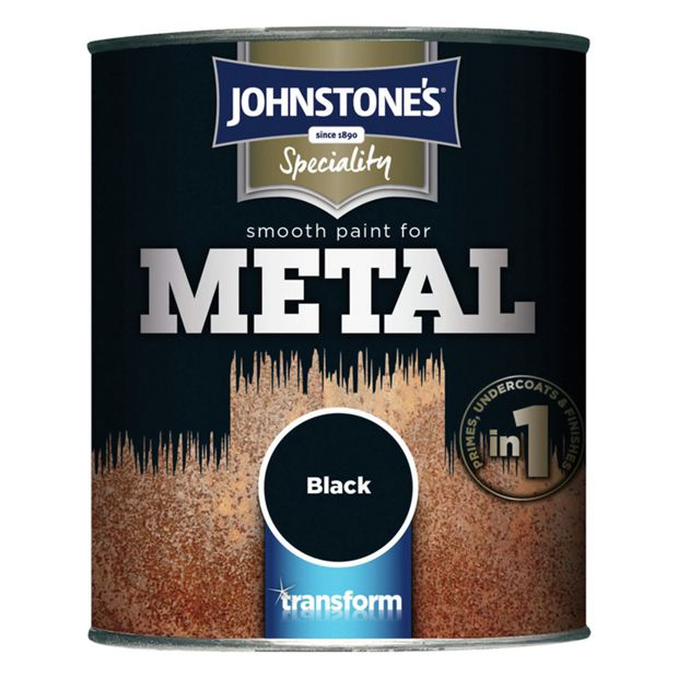 Buy johnstone 39 s gloss smooth metal paint black at your online shop for - Johnstones exterior paint set ...