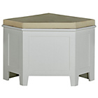 more details on Corner Storage Bench with Cushion - White.