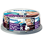 more details on Philips Inkjet Printable DVD-R Pack of 25 on a Spindle.