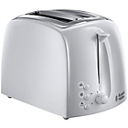 Russell Hobbs Textures 2 Slice Toaster - White