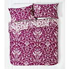more details on HOME Raspberry Damask Bedding Set - Double.