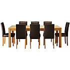 more details on Hemsley Extendable Dining Table & 8 Chocolate Chairs.
