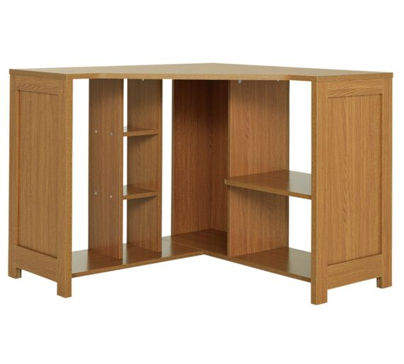 Buy conrad corner desk oak effect at your online shop for desks and workstations Argos home office furniture uk