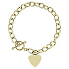 more details on 9ct Gold Heart Charm T-Bar Bracelet.