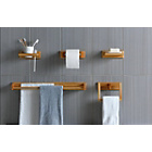 more details on 5 Piece Bathroom Accessory Set - Oak Effect.