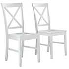 more details on HOME Pair of White Cross Back Chairs.