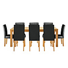 more details on Hemsley Extendable Dining Table & 8 Black Chairs.