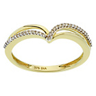 more details on 9ct Gold Diamond Crossover Wishbone Wedding Ring.