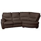 more details on Collection Sorrento Leather Recline Right Corner Sofa -Choc