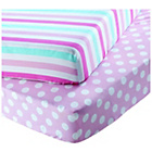 more details on Chad Valley Stripe and Spot Fitted Sheet - Toddler.