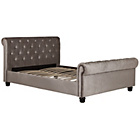 more details on Schreiber Abbotsbury Button Back Sleigh Kingsize Bed - Mink.