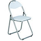 Great Value Padded Folding Office Chair - White