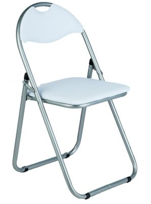 Buy Padded Folding fice Chair White at Argos