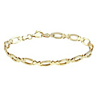 more details on Silver & 9ct Bonded Gold Solid Look Hugs and Kisses Bracelet