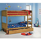 more details on Detachable Pine Bunk Bed with Storage & Elliott Mattress.