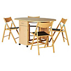 more details on Willow Oak Stain Folding Dining Table & 4 Folding Chairs.