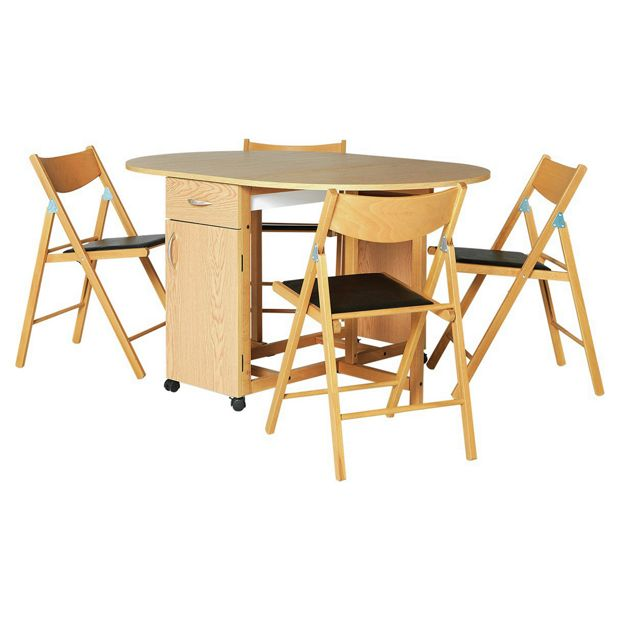Buy Dining Table And Chairs Online: Buy Collection Willow Dining Table And 4 Chairs-Oak Stain