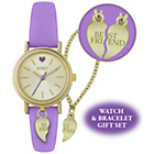more details on Spirit Girls' Best Friend Purple Strap Watch Gift Set.