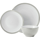 more details on ColourMatch 12 Piece Stoneware Dinner Set - Grey.