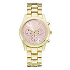 more details on Identity London Ladies' Pink Dial Gold Colour Bracelet Watch