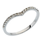 more details on 9ct White Gold 0.20ct tw Diamond Wishbone Wedding Ring.