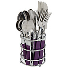 more details on ColourMatch 16 Piece Cutlery Caddy - Purple Fizz.