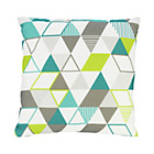 more details on ColourMatch Geo Cushion - Flint Grey, Lagoon and Apple Green