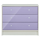 more details on New Malibu 3 Drawer Wide Chest - Lilac.