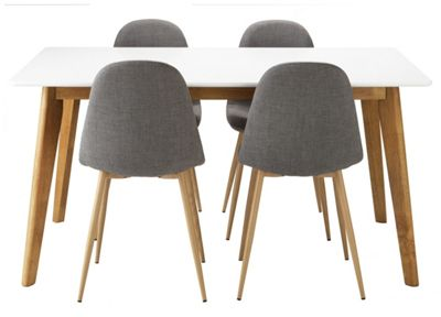 Buy Hygena Beni Dining Table and 4 Chairs Grey at Argos  : 4816441RSETTMBampwid620amphei620 from www.argos.co.uk size 620 x 620 jpeg 28kB