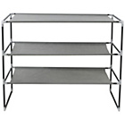 more details on Stackable 3 Tier Fabric Shoe Rack - Grey.