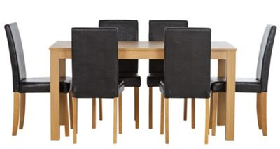 Buy HOME New Elmdon Oak Stain Dining Table and 6 Chairs  : 4817165RSETTMBampwid620amphei620 from www.argos.co.uk size 620 x 620 jpeg 23kB