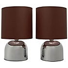 more details on ColourMatch Pair of Touch Table Lamps - Chocolate.